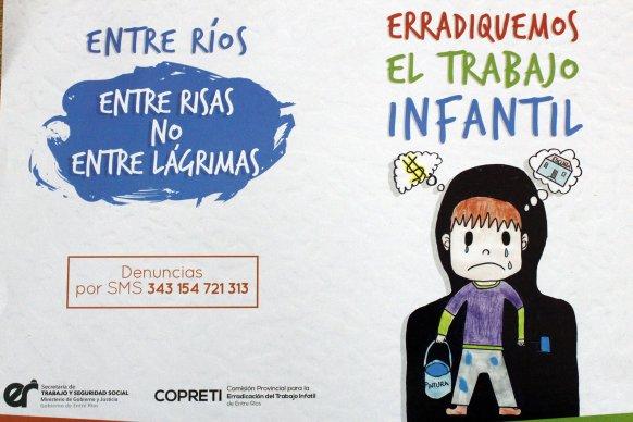 Continúa la  lucha contra el Trabajo Infantil en Entre Ríos