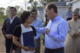 Bordet inauguró las primeras viviendas construidas íntegramente con fondos provinciales