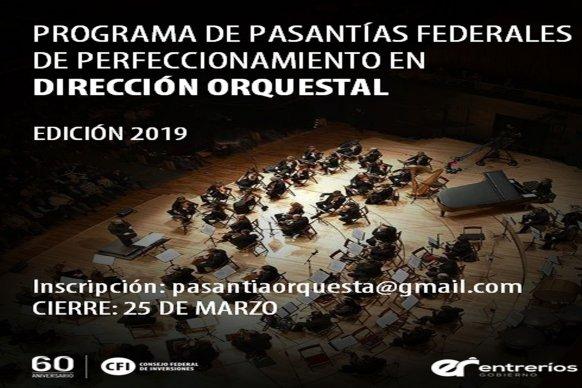 Convocan a postularse para Pasantías Federales de perfeccionamiento en Dirección Orquestal