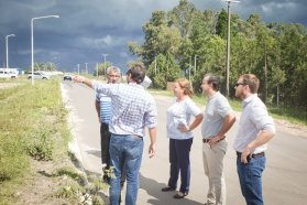 Avanza la construcción del acceso norte a Urdinarrain, departamento Gualeguaychú