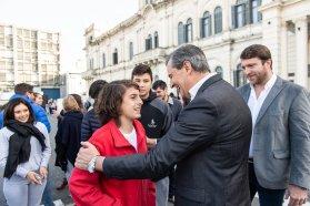 En la plaza Mansilla celebraron el día de los centros de estudiantes
