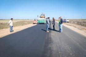 Se trabaja en la construcción de la ruta Nº 51 desde Larroque a Parera