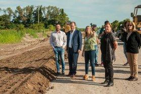 Continúan los trabajos en la pavimentación desde Oro Verde a Tezanos Pinto, en el departamento Paraná