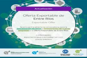 Reabrió la convocatoria para formar parte de la oferta exportable entrerriana 2018/19