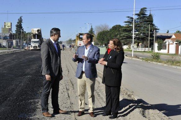 Bordet y Bahl dejaron habilitadas las colectoras del acceso sur a Paraná que construyó la provincia