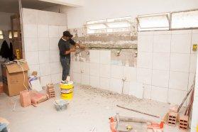 Realizan mejoras edilicias en Vialidad Provincial