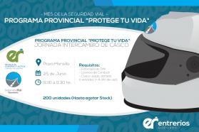 En el mes de la Seguridad Vial se realizará una jornada de intercambios de cascos en la Plaza Mansilla