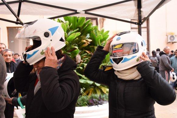 En el marco del mes de la Seguridad Vial la provincia entregó 300 cascos en Paraná