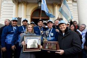 El gobierno de Entre Ríos recibió a los campeones mundiales de softbol