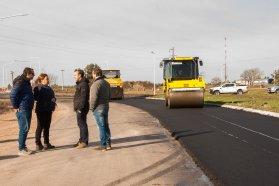 La pavimentación de la rotonda de Urdinarrain presenta un 85 por ciento de avance
