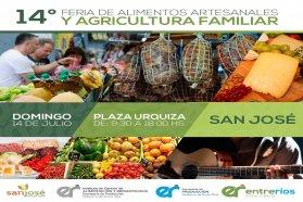 En San José se realizará XIV Feria de Alimentos Artesanales y de la Agricultura Familiar