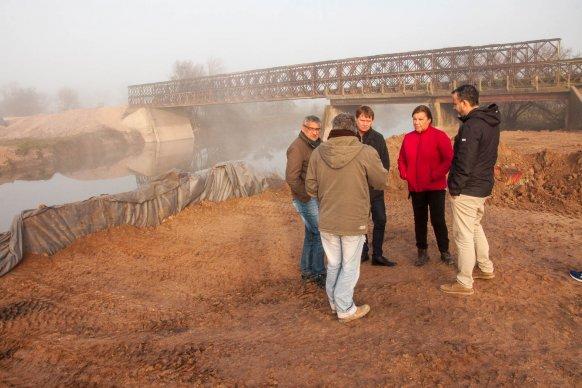 Avanza la construcción de los puentes en Don Cristóbal