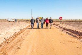 La obra de acceso a la Escuela Nº95 de Chiqueros se encuentra en la etapa final