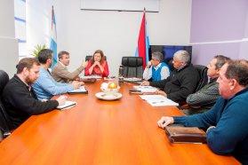 Se evaluó la marcha de obras viales en el departamento Nogoyá