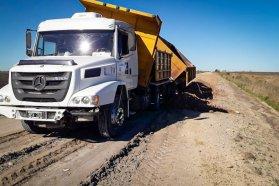 Vialidad continúa con el programa de conservación de caminos en los departamentos Paraná, Nogoyá y Diamante