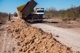 Consolidan la transitabilidad de la Ruta 33 entre los departamentos Paraná y Nogoyá