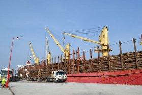 Desde Entre Ríos zarpó hacia China la primera exportación de madera de álamo