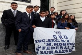 Estudiantes de Federal representan a Entre Ríos en simulacro de Asamblea de la ONU