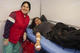 Se concretó una nueva colecta externa de sangre frente al Ministerio de Salud