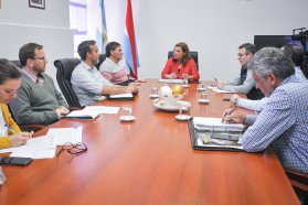Repasaron la agenda de obras viales para el departamento San Salvador