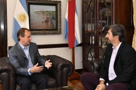 Bordet analizó la agenda legislativa y la coyuntura política con el senador Giano