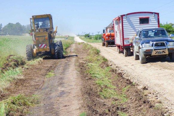 Vialidad Provincial realiza tareas de mantenimiento durante el fin de semana