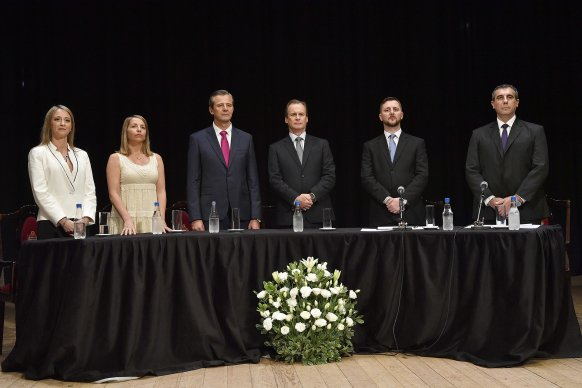 Bordet asistió a la asunción de Bahl como intendente de Paraná