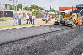 Recorrieron los avances de los trabajos en el acceso sur a Paraná