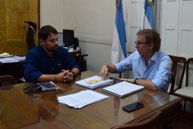 Bahillo se reunió con Emiliano Gómez Tutau