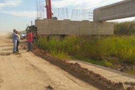 Continúan los trabajos en la ruta 51 cerca de Irazusta