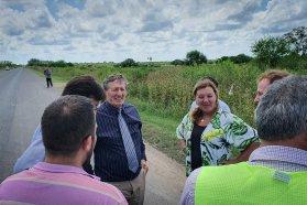 Coordinan diversas obras entre Vialidad y el municipio de Rosario del Tala