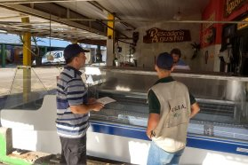 Exitoso operativo de control de alimentos  en Diamante