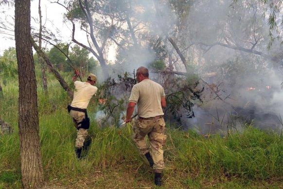 Entre Ríos y Santa Fe realizan controles conjuntos en la zona de islas por los incendios detectados