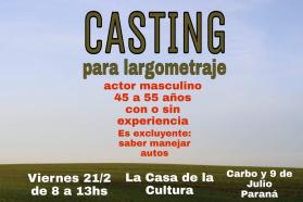 Convocan a casting para película de director entrerriano
