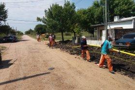 Comienzan  tareas de habilitación  y ampliación de la red de gas natural en Rosario del Tala