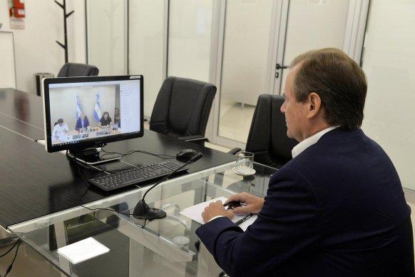 Bordet respaldó al presidente y la decisión de extender del aislamiento para controlar la circulación del virus