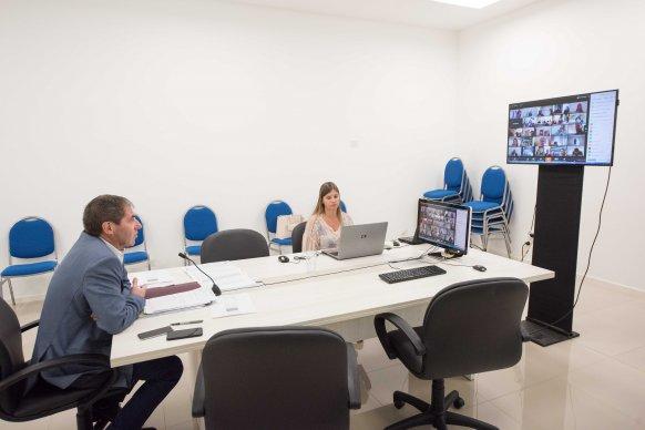 Ballay compartió información económica con todos los municipios mediante una videoconferencia