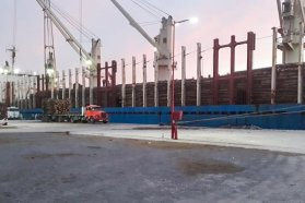Se completó otra exportación de madera desde el puerto de Ibicuy