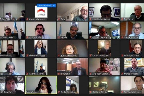 Entre Ríos participó en la asamblea virtual del Consejo Nacional de la Vivienda