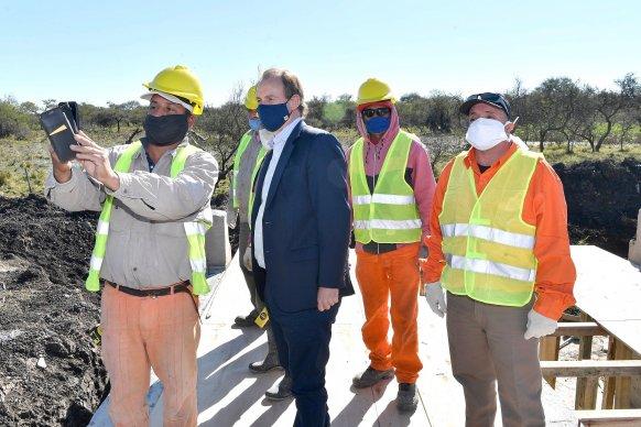 Bordet resaltó la reactivación de las obras viales para el sector productivo que generan empleo