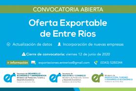 Se encuentra abierta la convocatoria para formar parte de la Oferta Exportable Entrerriana