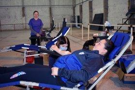 Una nueva colecta de sangre reunió la solidaridad de los paranaenses en el Sportivo Urquiza