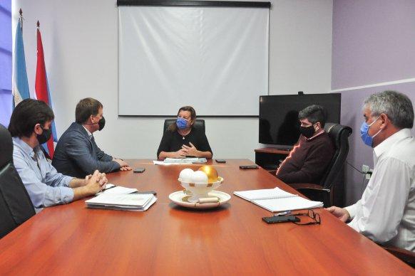 Coordinan obras viales para el departamento Villaguay