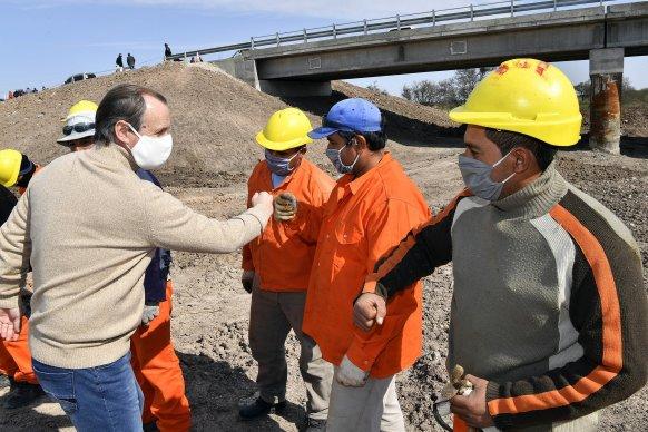 Bordet puso de relieve el apoyo del Estado en infraestructura vial para el sector productivo entrerriano