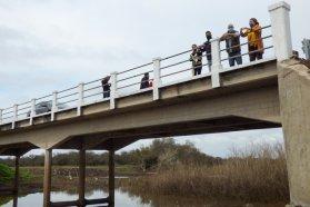 Rehabilitan el puente sobre el arroyo Durazno y el acceso a la localidad del departamento Tala