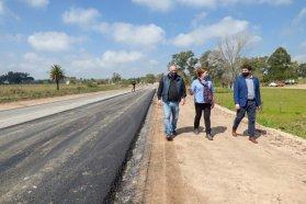 Se trabaja en la rehabilitación del ingreso a San José por la ex ruta 26