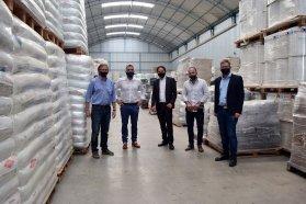Bahillo participó de la firma de convenios para nuevas inversiones en el Área industrial de Larroque