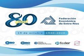 La provincia participo de la celebración virtual de los 80 años de la federación económica de Entre Ríos