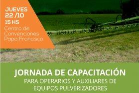 Producción capacitará a operarios de equipos pulverizadores en Villaguay
