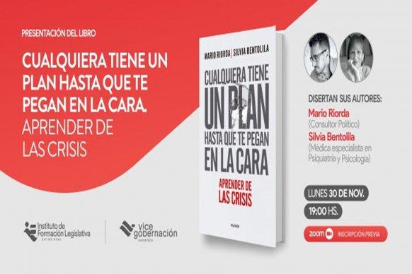 Se presentará el libro Cualquiera tiene un plan hasta que te pegan en la cara. Aprender de las crisis